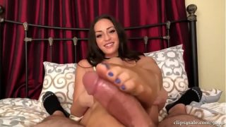 Cleo Step Mother Footjob in Pantyhose